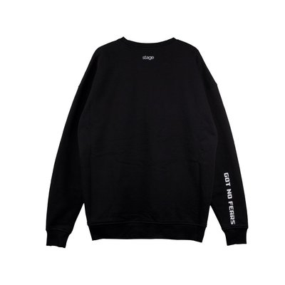 STAGE THE BRAVE SWEATER 寬版上衣 黑色