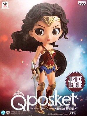 日本正版 景品 Q posket DC 神力女超人 通常色 模型 公仔 日本代購