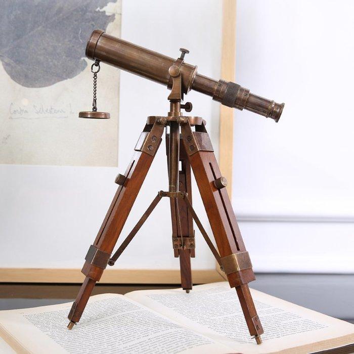 【睿智精品】歐式居家擺設 復古望遠鏡 書房擺設 樣品屋擺設(GA-3666)