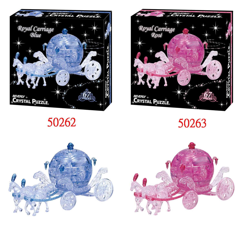拼圖專賣店 日本進口拼圖  3D水晶立體拼圖 公主馬車系列  50262 藍色 / 50263 粉紅色