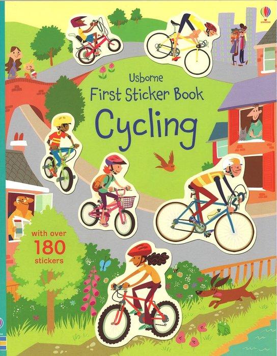 *小貝比的家*USBORNE FIRST STICKER BOOK CYCLING/貼紙書/平裝/3~6歲