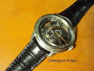 愛彼錶圓弧形錶耳鱷魚手工錶帶 AP Millenary 4101 curved lug end croco strap