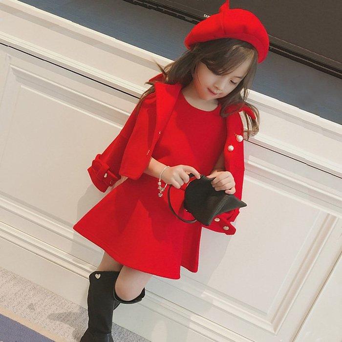 [C.M.平價精品館]新品特價80~165CM/一衣多穿無袖洋裝+外套+帽子三件套裝  小中童/大童/母子裝