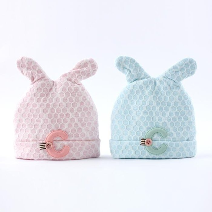 棉質嬰兒帽子雙層夾棉加厚春秋冬季0-3新生兒胎帽0-6個月寶寶帽子