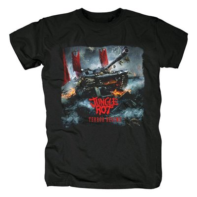 美國Jungle Rot老式死亡金屬Terror Regime專輯流行音樂紀念T恤