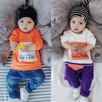 【叮叮親子商城】嬰兒上衣春秋季男女寶寶T恤衫長袖彈力秋衣新生周歲0-3-6-12個月