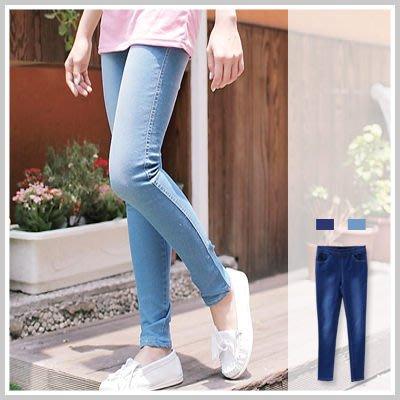 鉛筆褲 激瘦美腿M車線Skinny超修身貼腿彈性牛仔褲【P619】☆雙兒網☆ 蜜糖半熟