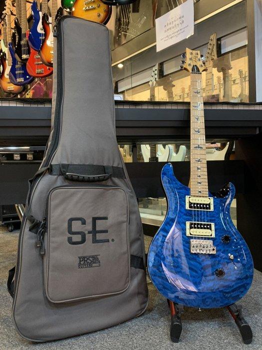 【名人樂器】全新已絕版 PRS SE Custom24 Roasted Maple 楓木限量 藍