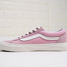 D-BOX Vans Vault OG style 36 粉色 白 經典款 帆布鞋 百搭休閑鞋 情侶鞋