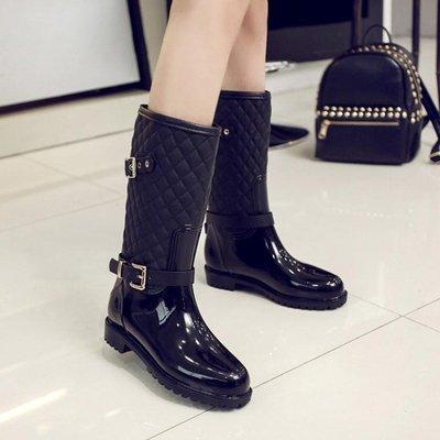 時尚馬丁雨鞋女中筒韓國防水鞋女成人水靴防滑雨靴