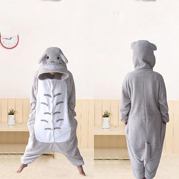 5Cgo【鴿樓】會員有優惠  珊瑚絨卡通動物連體睡衣 情侶家居演出服裝 舞臺劇服飾 cospay 龍貓