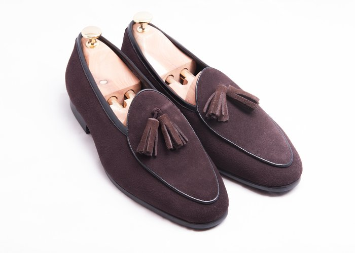 流蘇比利時樂福鞋:麂皮真皮男鞋皮鞋-咖啡色-免運費-[LMdH直營線上商店]E1B26-89