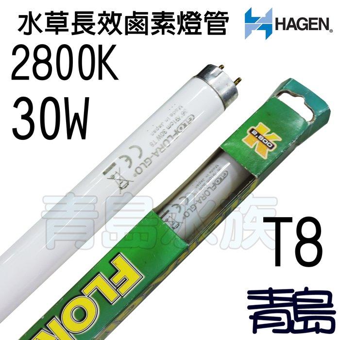 五3中0↓↓庫存品。青島水族。A-1617S加拿大HAGEN赫根--T8-FLORA-GLO水草長效鹵素燈管==30W