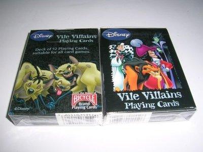 【USPCC撲克】Vile Villains撲克牌(1付裝)