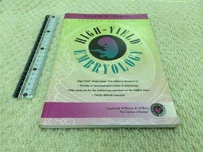 獵戶座【High-yield Embryology Second Edition】ISBN0781721326 N1區