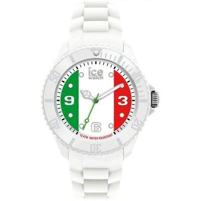 [永達利鐘錶 ] ICE watch 白色義大利國旗膠帶日期錶 WO.IT.B.S.12 原廠公司保固24個月 42mm