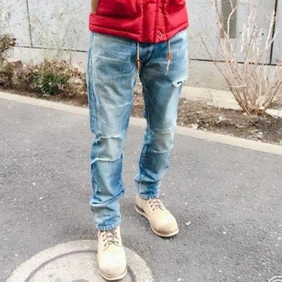 【STRIPES】19年 Neighborhood CLAW SAVAGE DP MID 深中版 牛王破壞牛仔褲 水洗淺藍丹寧長褲 刀割 日本製