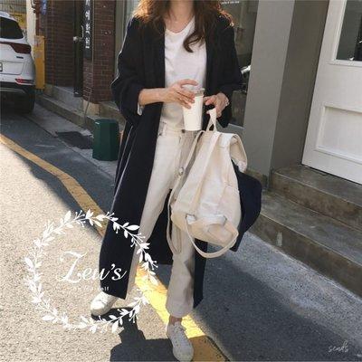 【ZEU'S】長款排釦寬鬆襯衫洋裝『 05119801 』【現+預】E