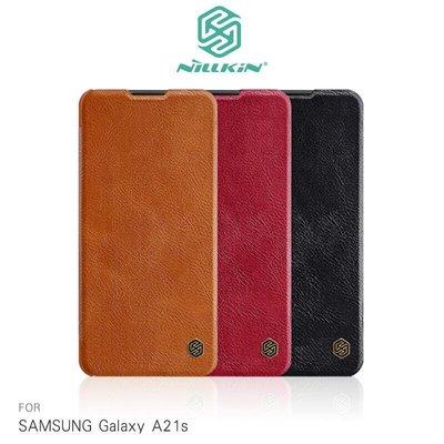 *phone寶*NILLKIN SAMSUNG Galaxy A21s 秦系列皮套 可插卡 高出鏡頭 無磁吸