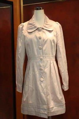 【性感貝貝2館】0918 米色西裝風衣大衣外套, mastina L'lar INED Single Noble 23區