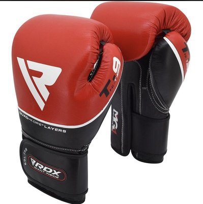 RDX Taiwan T9紅黑-真皮拳套