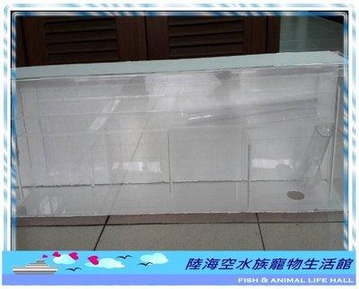 ◎陸海空水族寵物生活館◎ 乾濕分離上部式過濾槽(三層)/上部過濾器/過濾盒/3尺/三尺 底濾式設計 / 乾溼分離