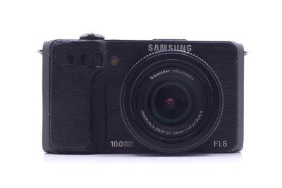 【台中青蘋果競標】Samsung EX1 f1.8 自拍美肌 黑 無底價競標 標多少賣多少 鏡頭發霉 #16523