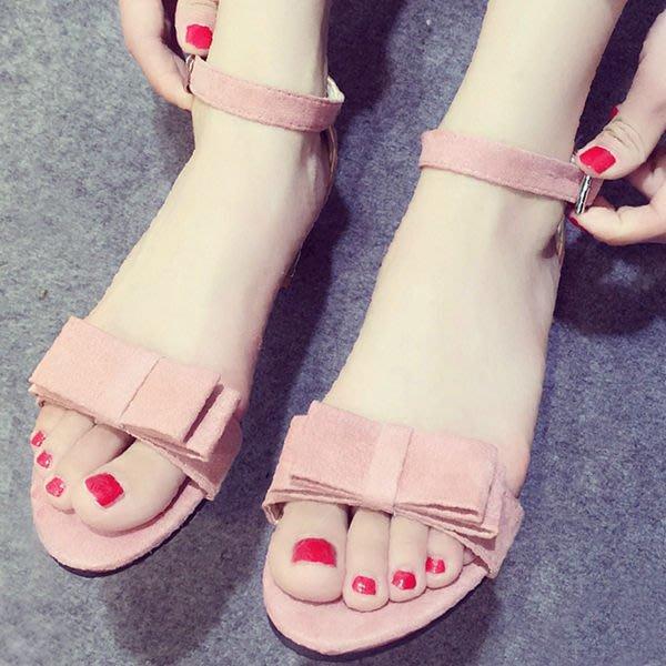 涼鞋 時尚清新蝴蝶結瑪莉珍涼鞋【S1112】☆雙兒網☆