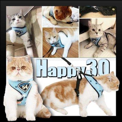 寵物外出防逃脫貓咪胸背帶鏈子遛貓繩-S-M【AAA0536】預購