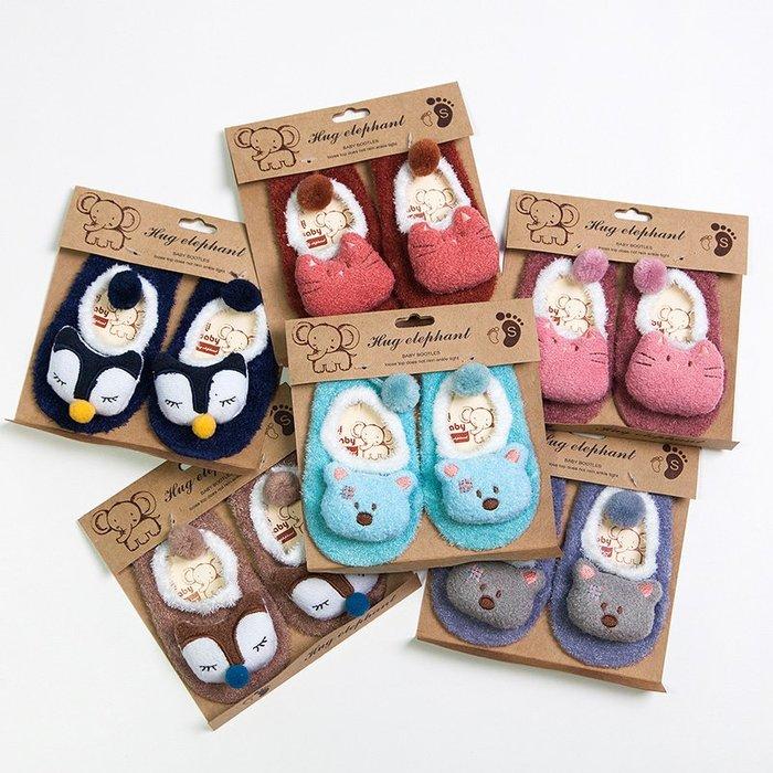 【小阿霏】寶寶防滑地板襪 秋冬立體卡通公仔點膠防滑嬰兒襪子PA340