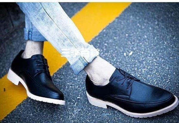 三季增高男鞋子 韓版結婚鞋 商務潮流男士休閑鞋英倫松糕發型師 尖頭皮鞋 361款❖916