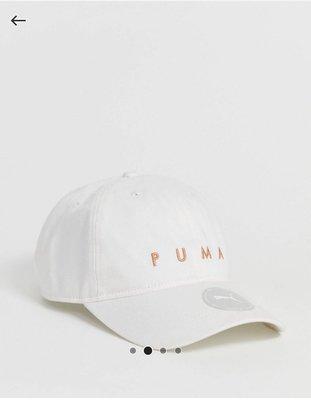 Puma 粉金logo英文字樣 白色棒球帽 帽子 Puma Techsports BB white cap