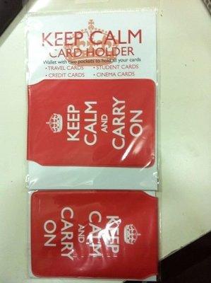 美國進口卡套 card holder london  / keep calm and carry on 全新