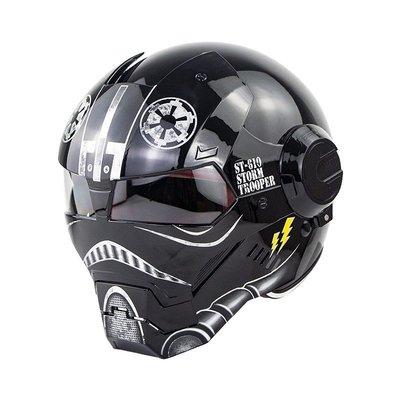 超個性Masei610鋼鐵俠摩托車全盔揭面盔鬼面盔變形金剛頭盔