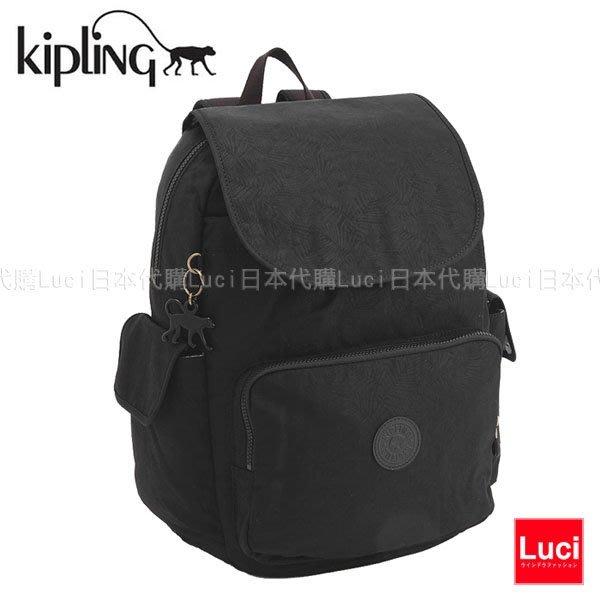 KIPLING 18737 H61 CITY PACK LEAF L 大款 媽媽包 葉子後背包 小猴子 LUCI日本代購