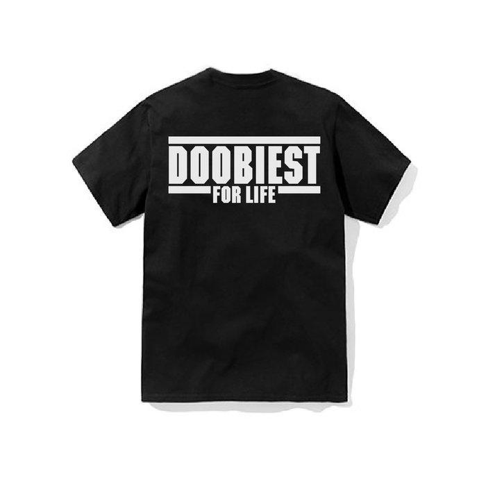 【DOOBIEST】- DOOBIEST FOR LIFE Tee (黑)