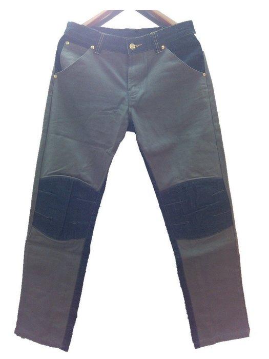單寧 斜紋布 雙材質拼接設計 膝蓋補丁造型 休閒長褲 G-Dragon 余文樂 陳冠希 潮人著用