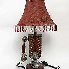 INPHIC-歐式仿舊檯燈電話機 臥室書房布藝節能燈 創意復古床頭燈