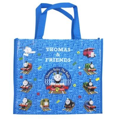 【卡漫迷】 湯瑪士 環保袋 ㊣版 手提袋 才藝袋 購物袋 文件袋 收納袋 Thomas 小火車 蒸汽 火車頭 防水