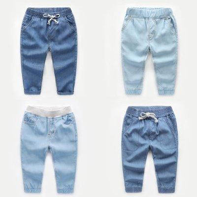 男童薄款牛仔長褲子春秋裝童裝寶寶兒童小童防蚊褲