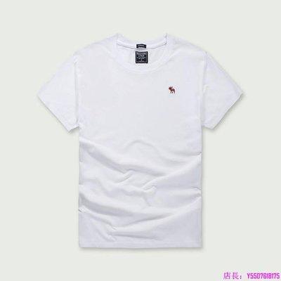 AF 短T Z28白色 男生 A&F 麋鹿 短袖T恤 海鷗 HCO 短Tee 精梳純棉 短袖T-特惠代購