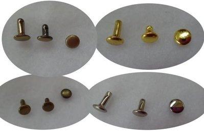 愛心手工材料鋪 五金配件 鉚釘 固定扣 雙面鉚釘 面扣8mm 總匯 一元一個