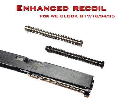 華山玩具神龍 SLONG WE增強型Recoil彈簧導軌 FOR WE GLOCK G17 18 34 35 黑/銀可選