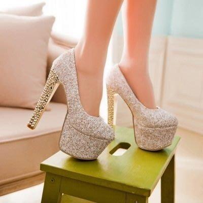 圓頭高跟鞋 水晶婚鞋-性感熱賣夜店玩咖女鞋子3色73e14[獨家進口][米蘭精品]