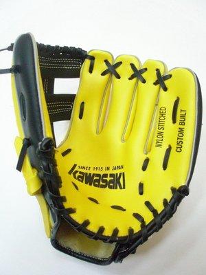開心運動場-KAWASAKI 10.5吋 兒童棒球手套(左手)