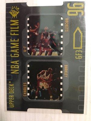 96SP名人堂球星惡漢BARKLEY早期高比例經典回顧雙底片卡