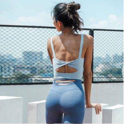 寶島小甜甜~Yoga suit vest female shockproof gathered sports bra sexy