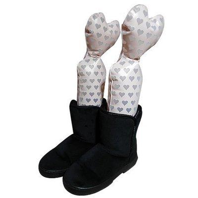 愛心馬靴充氣鞋撐1雙入 [金生活]