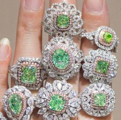 珠寶設計議價彩鑽首飾925純銀包白金戒指微鑲主鑽高碳鑽石肉眼看是真鑽 超低價鉑金質感高碳仿真鑽石莫桑鑽寶特價優惠來圖訂做
