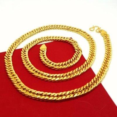 🌸黃金項鍊/鍍金項鍊/仿金項鍊/沙金/金飾/男生項鍊/男生飾品/金項鍊